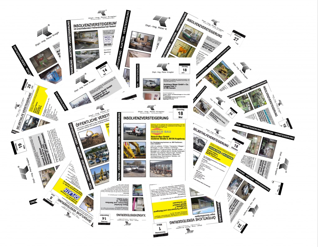 Versteigerungen Collage Kragler